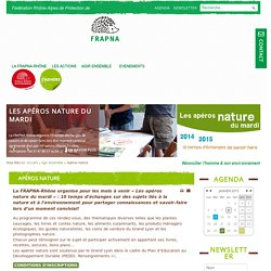 Apéros nature - Agir ensemble - FRAPNA-Rhône
