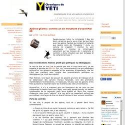 APÉROS GÉANTS : COMME UN AIR TROUBLANT D'AVANT MAI 68 - Chroniqu