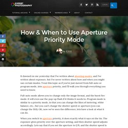 How & When to Use Aperture Priority Mode » Expert Photography