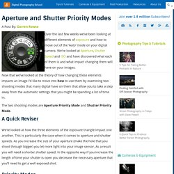 Aperture and Shutter Priority Modes