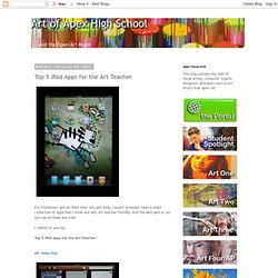 Top 5 iPad Apps for the Art Teacher