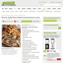 Apfel-Nuss-Stollen (roulé pommes-noix)
