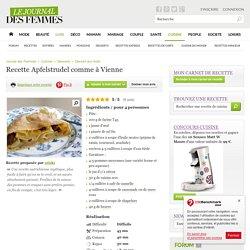 Apfelstrudel comme à Vienne : la recette