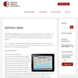 Aphasia-Apps - National Aphasia Association