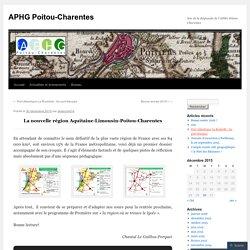 La nouvelle région ALPC [carte]