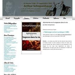 Aphorismes sur la sagesse dans la vie - Schopenhauer.fr