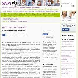 APHP : Bilan social de l'année 2009