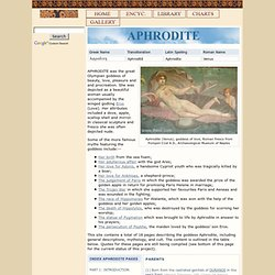 APHRODITE : Greek Goddess of Love & Beauty | Mythology, w/ pictures | Roman Venus