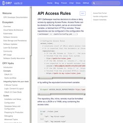 API Access Rules · ORY Documentation
