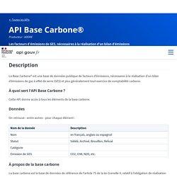 API Base Carbone® - api.gouv.fr