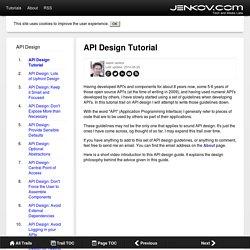 API Design Tutorial