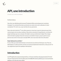 API, une introduction