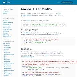 API Introduction - vLine