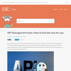 API Management tools: How to find the one for you
