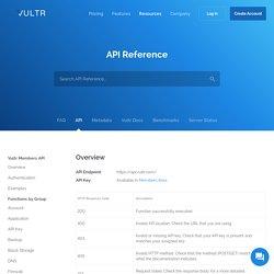 API - Vultr.com