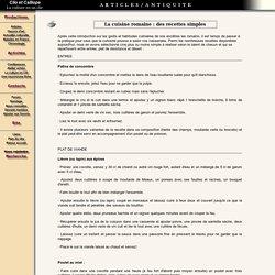 Apiciuis, la cuisine romaine : des recettes simples