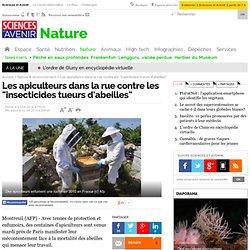 """Les apiculteurs dans la rue contre les """"insecticides tueurs d'abeilles"""""""