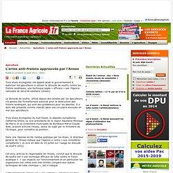 FRANCE AGRICOLE 23/08/13 Apiculture - L'arme anti-frelons approuvée par l'Anses