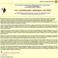 Apiculture - Les constituants chimiques du Miel - Laurent Guinot