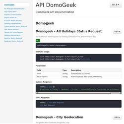apiDoc: API DomoGeek - 0.1.0