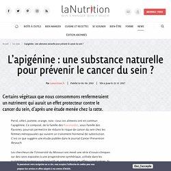 Apigénine - Prévention naturelle contre le cancer du sein