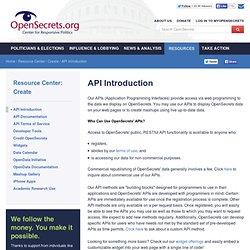OpenSecrets APIs