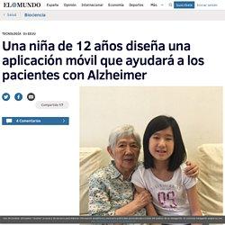 Una niña de 12 años diseña una aplicación móvil que ayudará a los pacientes con Alzheimer