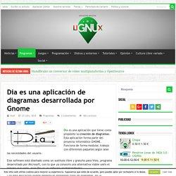 Dia es una aplicación de diagramas desarrollada por Gnome