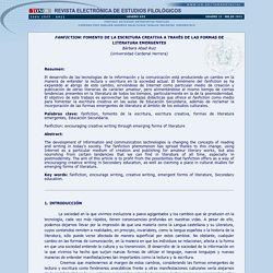 Artículo 1: título (La aplicación de las formas de lectura y escritura emergentes a las aulas, o algo así)