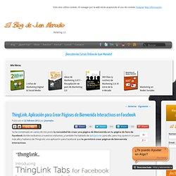 ThingLink, Aplicación para Crear Páginas de Bienvenida Interactivas en Facebook