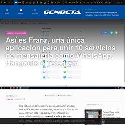 Así es Franz, una única aplicación para unir 10 servicios de mensajería como WhatsApp, Hangouts o Telegram