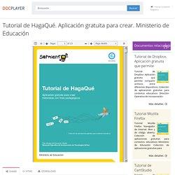 ⭐Tutorial de HagaQué. Aplicación gratuita para crear. Ministerio de Educación