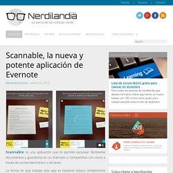 Scannable, la nueva y potente aplicación de Evernote