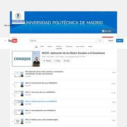 Lista Youtube - MOOC: Aplicación de las Redes Sociales a la Enseñanza
