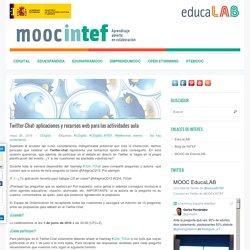 Twitter-Chat: aplicaciones y recursos web para las actividades aula