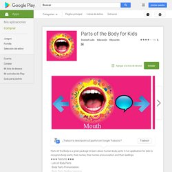 Parts of the body for kids - Android