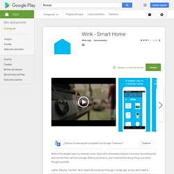 Wink - Smart Home - Aplicaciones Android en Google Play