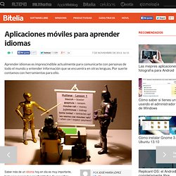 Aplicaciones para aprender idiomas en Android, iOS y Windows Phone