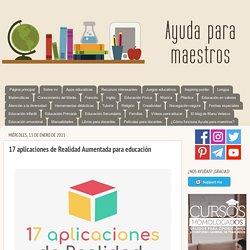 17 aplicaciones de Realidad Aumentada para educación