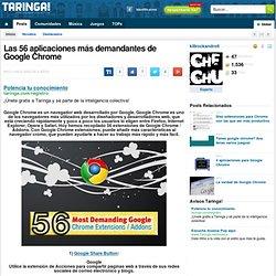 Las 56 aplicaciones más demandantes de Google Chrome
