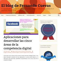 Aplicaciones para desarrollar las cinco áreas de la competencia digital