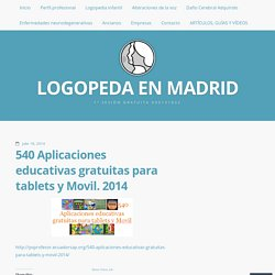 540 Aplicaciones educativas gratuitas para tablets y Movil. 2014