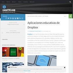 Aplicaciones educativas de Dropbox
