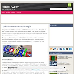 Aplicaciones educativas de Google