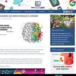Aplicaciones que dicen estimular el cerebro