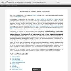 Aplicaciones TIC para estudiantes y profesores