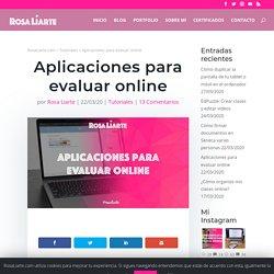 Aplicaciones para evaluar online