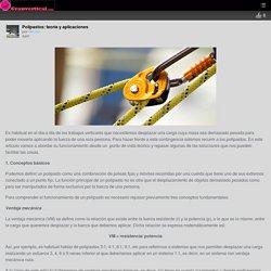 Polipastos: teoría y aplicaciones – Granvertical