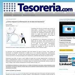 Tesorería.com: Gestión de Tesorería para pymes. Aplicaciones y sistemas de gestión de tesorería.: ¿Cómo mejorar la información en el área de tesorería?