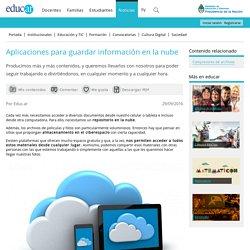 Aplicaciones para guardar información en la nube